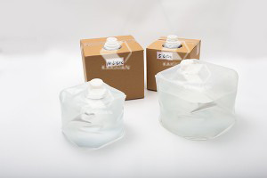 Collapsible 5 liter ultrasound gel cubitainer5